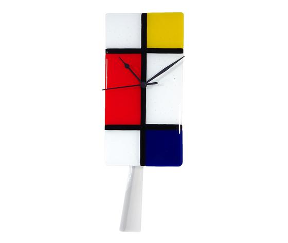 Orologio vetro muro p rettangolare mondrian 4