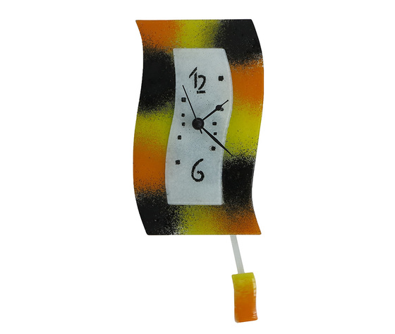 Orologio vetro extro macchie arancione nero