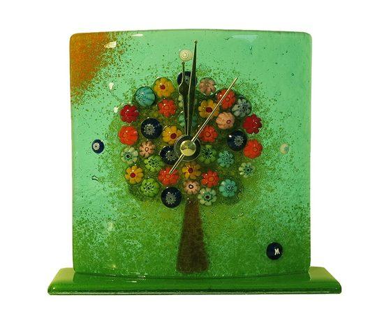 Orologio vetro murano albero della vita tavolo petrolio