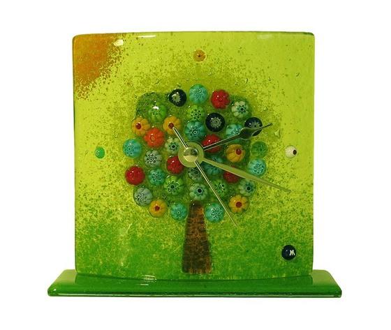 Orologio vetro murano albero della vita tavolo verde