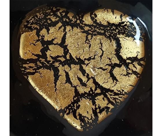 Cuore nero oro dettaglio