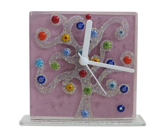 Orologio vetro murano albero klimt lilla