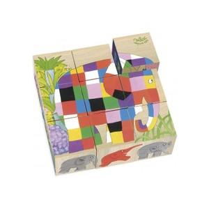 ELMER cubes en bois