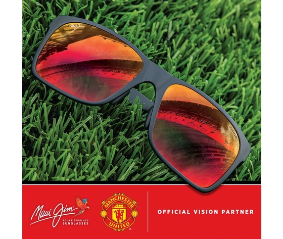 Maui jim manchester united social media post red sands rm432n 35utd
