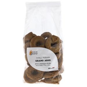 Frutti del Grano - Taralli Pugliesi Grano Arso Fatti a mano gr  250