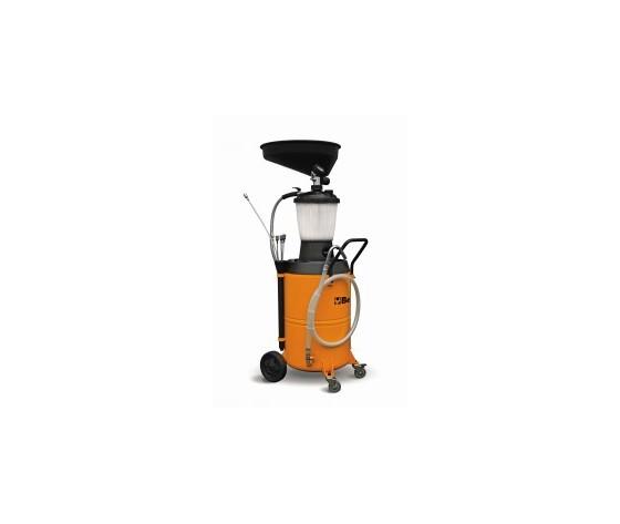 Recuperatore/aspiratore olio esausto,carrellato con serbatoio da 90 litri e precamera
