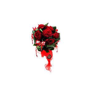 COMPLIMENTI  bouquet grande rose rosse