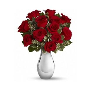 7 Rose Rosse Grande  in elegante confezione regalo