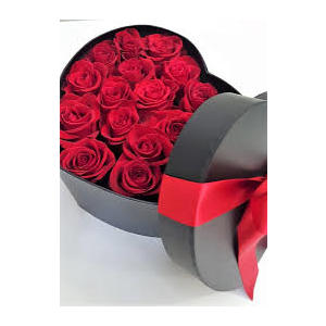 Box Flower's rose rosse