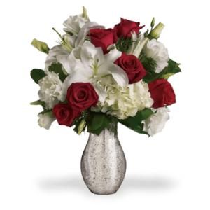 Bouquet Rosso e Bianco
