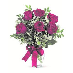 Mazzo 12 Rose Rosse Alte