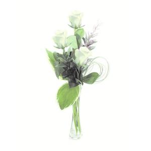 3 Rose bianche confezionate