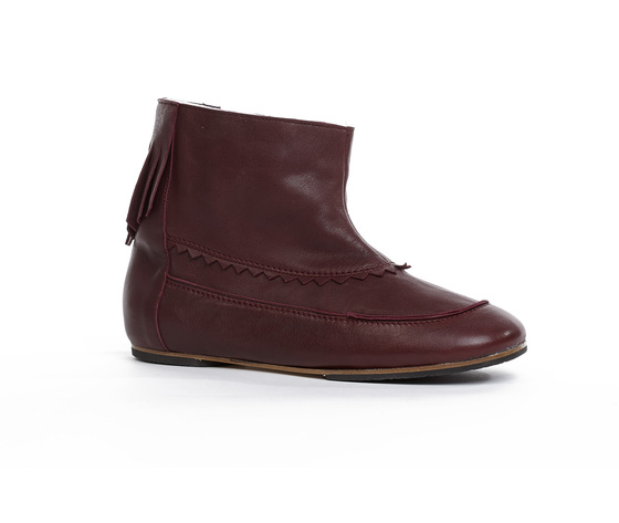 Stivaletto Alabama pelle imbottito Bordeaux Mon Massague