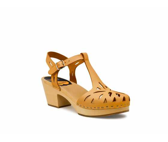 Swedish Hasbeens Lacy Sandal Nature, color naturale, suola naturale/Natural Sole