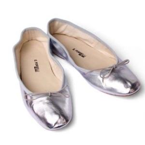 Ballerina Porselli pelle Acciaio