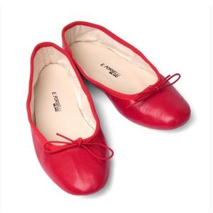 Ballerina Porselli pelle Rosso