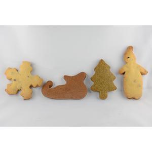 Mix biscotti con soggetti natalizi