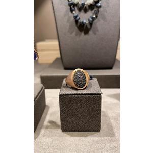 Anello chevallier oro rosa e diamanti black
