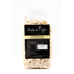 CAVATELLINI SENATORE CAPPELLI 500gr- pasta artigianale da agricoltura biologica