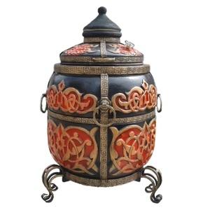 Multi-Function Barbecue-Forno-Grill Tandoor in ceramica COLORE ROSSO