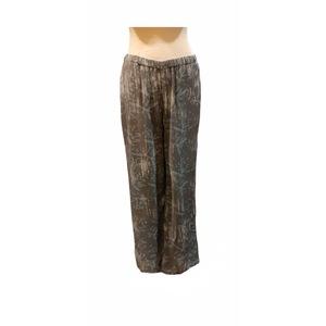 Pantalone taglio dritto con elastico, fusion in fibra di latte