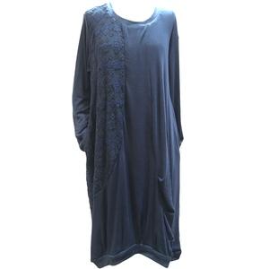 Vestito lungo lana e cotone, ampia vestibilità.Taglia unica.