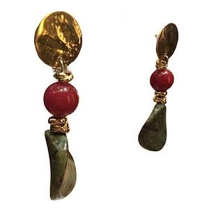 orecchini artigianali made in Italy, con pietre dure naturali