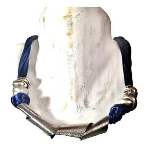 Collana artigianale made in Italy,  alluminio e cotone. 5 colori estivi