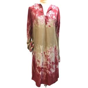 Ampio abito fusioni di colore con manica lunga