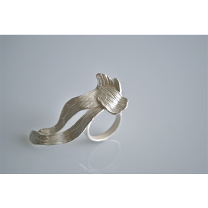 WEVES, GIOIELLO SCULTURA, anello handmade, creazione d'arte in argento