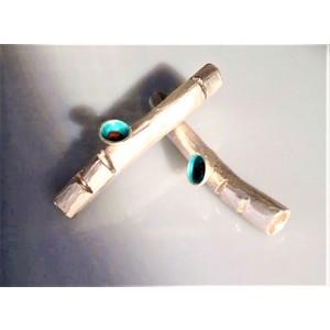 BAMBOO orecchini, GIOIELLO SCULTURA, orecchini handmade, creazione d'arte in argento