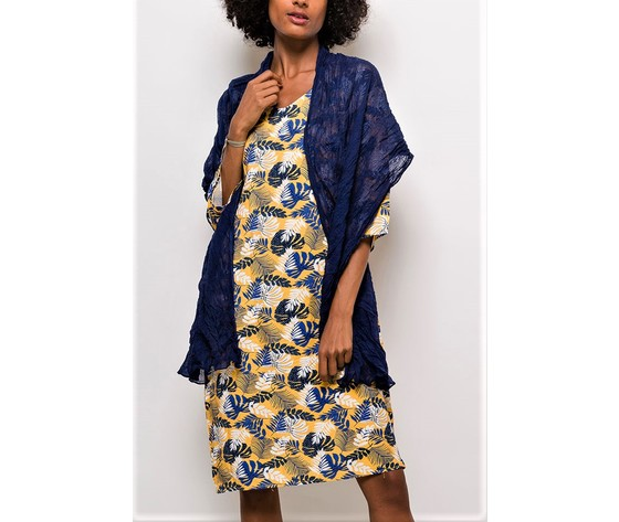 For her paris robe imprimee105 yellow 1