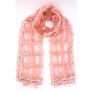 Rosa,sciarpa leggera, viscosa e seta