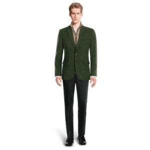 Giacca da uomo tweed con gilet rimovibile