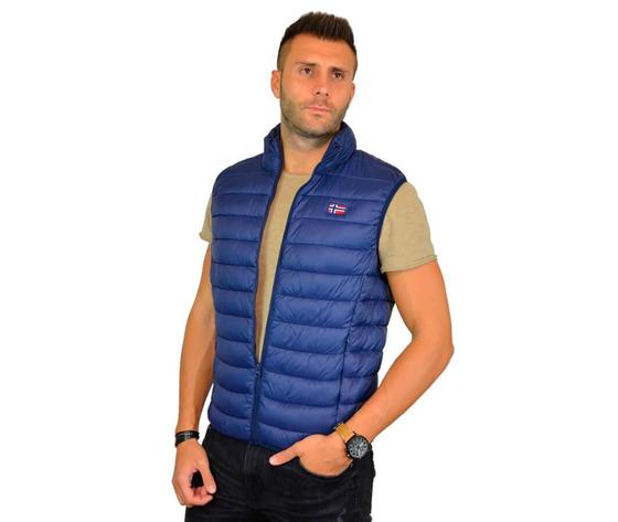 Scuola nautica italiana giacca uomo smanicato 919951 blu particolare 2
