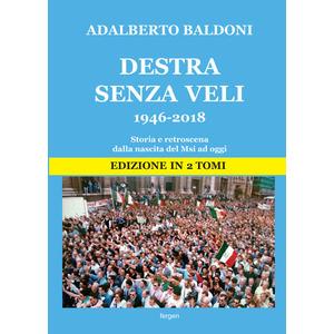 DESTRA SENZA VELI 1946-2018. Dalla nascita del Msi a Fratelli d'Italia  di Adalberto Baldoni (Fergen)