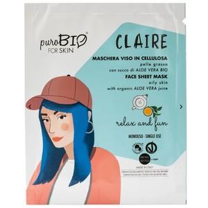 Maschera Viso Claire Relax & Fun puroBIO for Skin