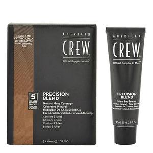 American Crew Precision Blend 5-6 Colorazione per Uomo Cenere Medio 3x40ml