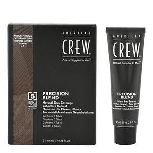 American Crew Precision Blend 4-5 Colorazione per Uomo Castano Medio 3x40ml