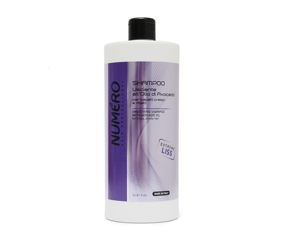 8011935075133 numero shampoo lisciante all'olio di avocado per capelli crespi e rielli 1000 ml