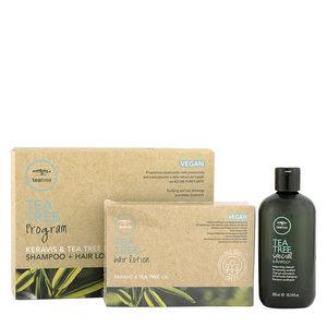 Paul Mitchell Tea Tree Program Shampoo 300ml + Hair Lotion 12x6ml - Trattamento Anticaduta Capelli con Forfora
