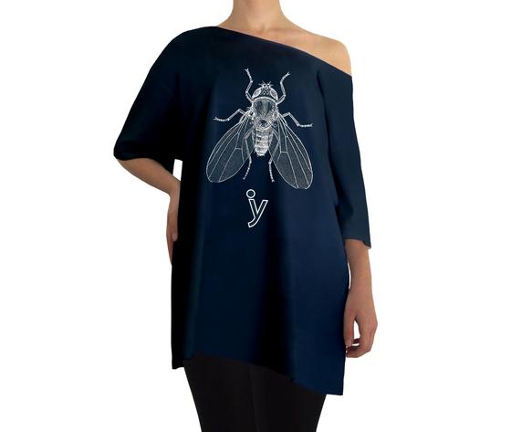 Oversize mosca bianca blu