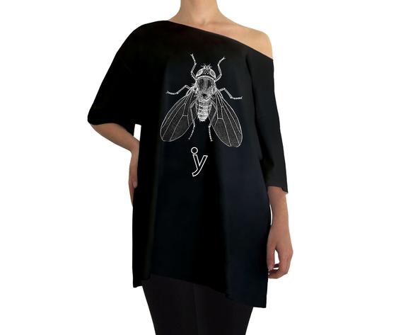 Oversize mosca bianca nero