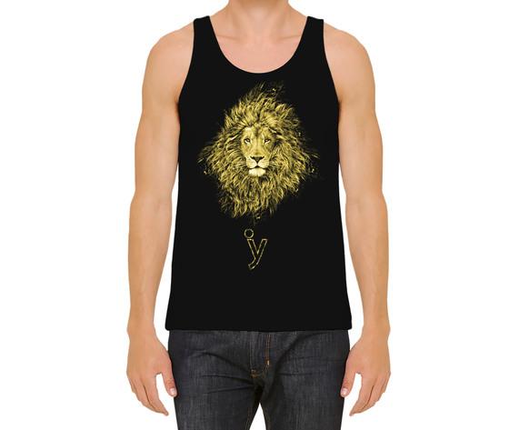 Canotta uomo leone oro nera