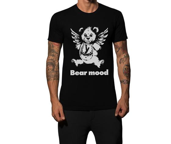 Tshirt nera bearmoodb