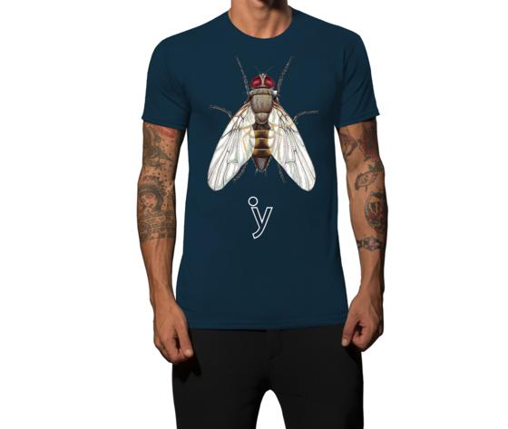 Maglietta mosca blu