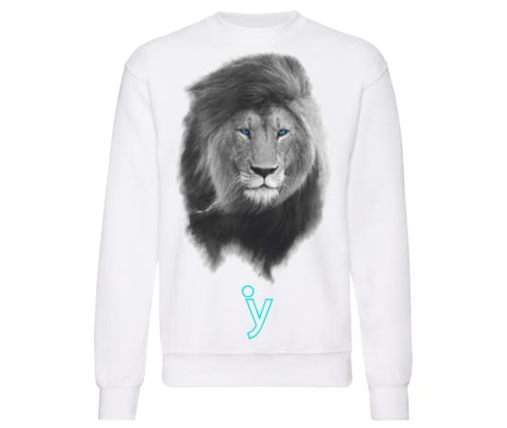 Felpa leone bianco y