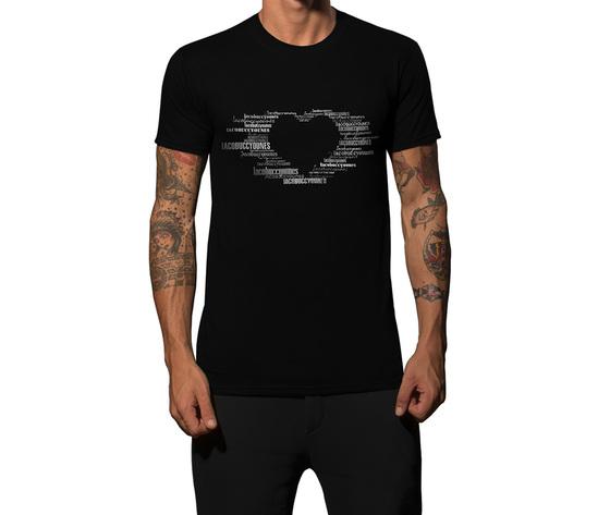 Tshirt nera cuoreb1000
