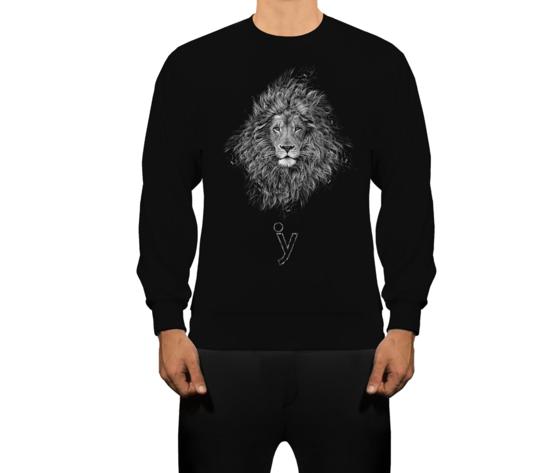 Felpa astrology leone nero