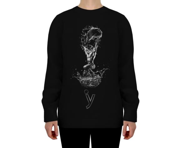 Felpa astrology acquario nero